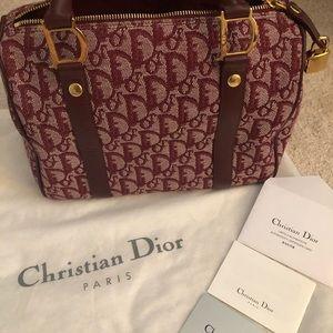 Christian Dior Boston D buckle bag canvas tote